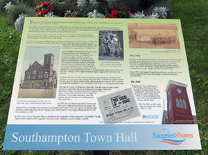 Plaque of Southampton Town Hall